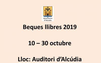 Beques llibres curs 2019-2020