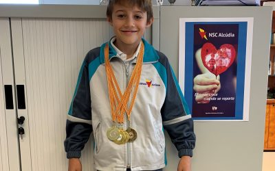 En José Mª Valverde Serra participà en la competició Balear per Aparatos i guanyà cinc medalles d'or. Enhorabona!