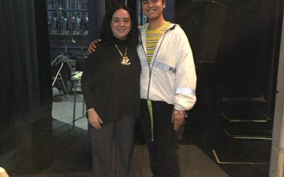 Nuestro alumno Alejandro Ortiz junto con Alicia Sintes, especialista en ondas gravitacionales y profesora de la UIB.