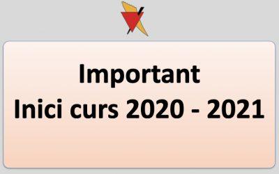 INICI CURS 2020-2021: