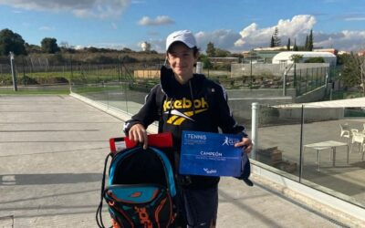 Gaspar Company Cebrián de 3r ESO, campió del torneig Rafa Nadal Club a categoria infantil dia 20 de desembre de 2020. Enhorabona champion!!
